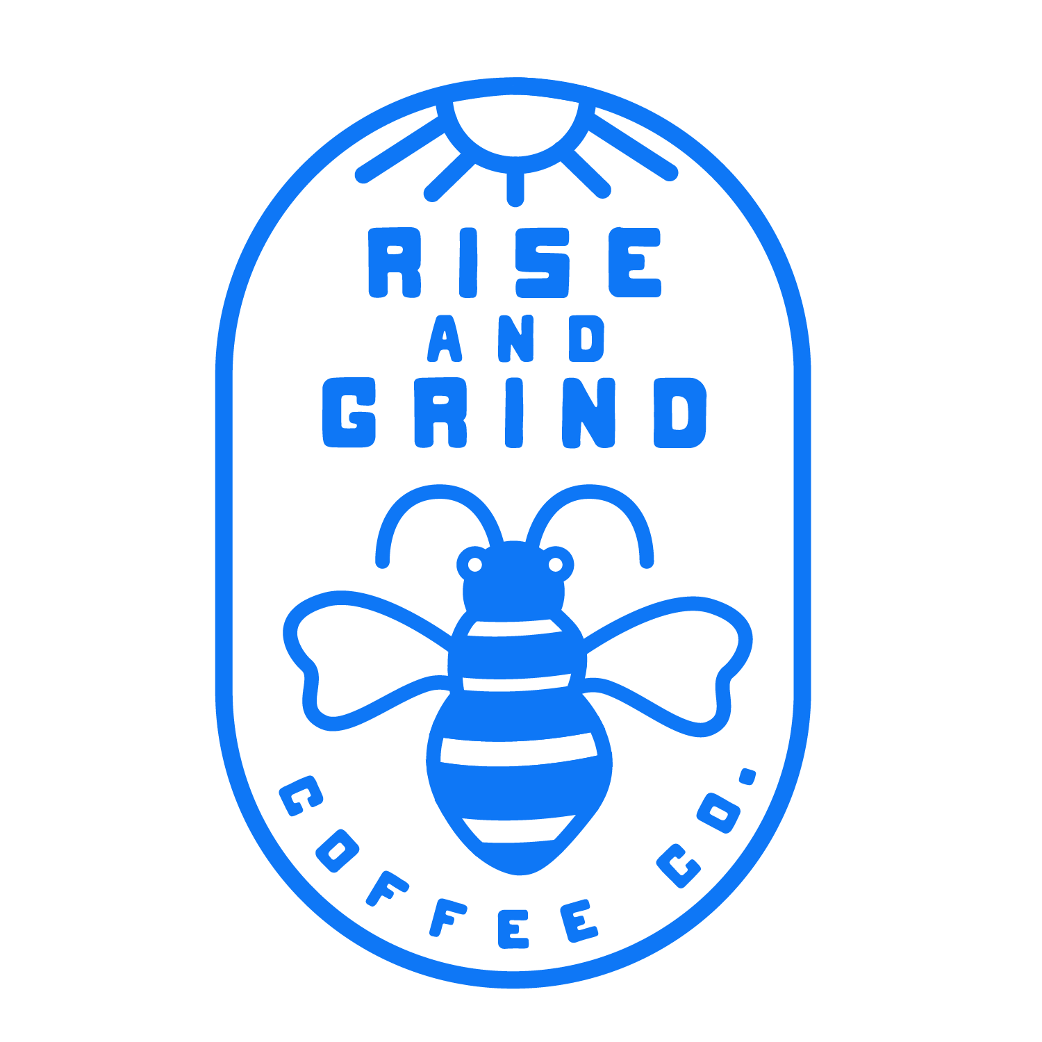 Rise & Grind coffee company for hipster teens.